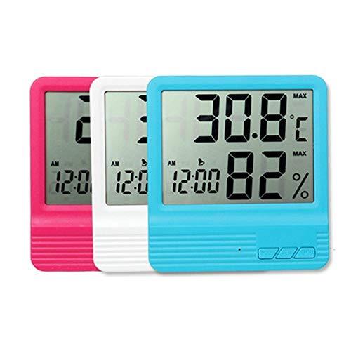 Alarmklocker8B Elektronische thermometer, hygrometer, digitale temperatuur en luchtvochtigheid, monitorhouder, hangende wekker in huis China. blauw