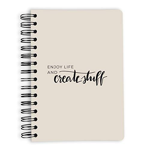 purepaper Notizblock | Notizbuch | Spiralblock | Bullet Journal | Create Stuff, DIN A5, Softcover, 120g, gepunket, dotted, punktkariert, dot grid, 240 Seiten