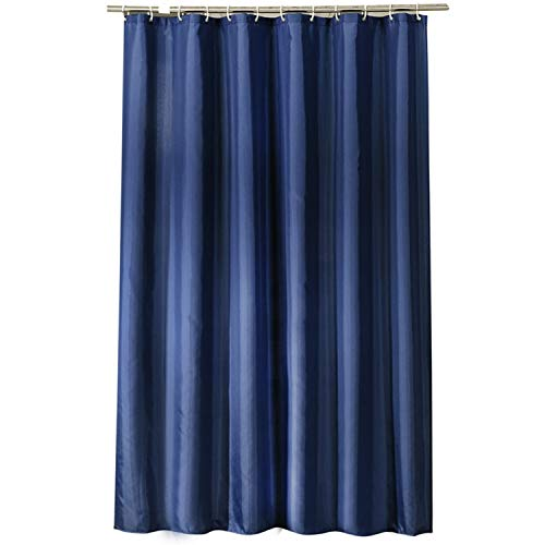 MaxAst Reine Farbe Duschvorhang Anti Schimmel, Dunkel Blau Badewanne Vorhang 300x200CM, Antibakteriell Wasserdicht mit Kunststoff Ringe Kein Rost