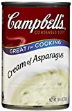 Condensed Soup, Campbells Cream of Asparagus, Great for Cooking, Ready Microwave Directions, Kitchen Pantry Staple, 10.75 Oz Canned 6 Packs