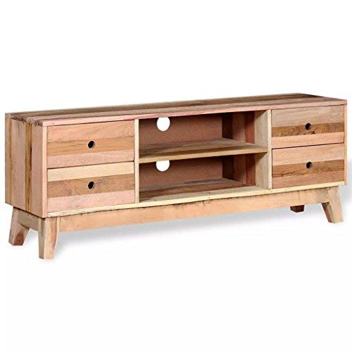 Disfruta Tus Compras con Mueble para la TV de Madera Maciza reciclada