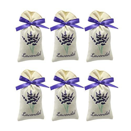 UPKOCH 12 Stücke Lavendel Beutel Leere Tasche Duft Lavendelsäckchen Süßigkeitstaschen Kordelzugbeutel Sack Duftsäckchen Lavendel Duft (Zufällige Stil)
