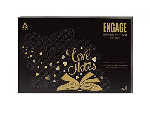 Engage Eau de Parfum Yin, 90ml with Pocketful O'Stories Gift Pack (For Men)