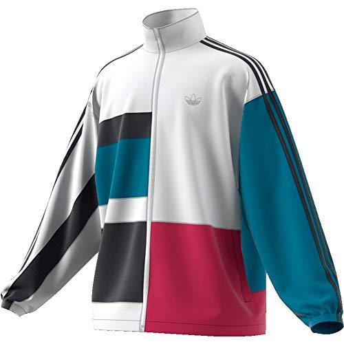Adidas Trainingjkt Asymm White BerryBlu Größe: L Farbe: White