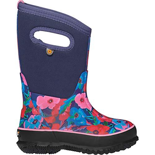 BOGS Classic Waterproof Rainboot Rain Boot, Water Pansies-Dark Blue, 13 UK Child