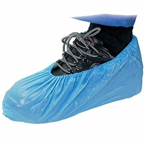 100 pcs Disposable Shoe Cover Blue Plastic Anti Slip...