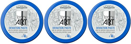Loreal Deviation Paste Styling-Crème Tecni.art, pasta di definizione destrutturante, 3 x 100 ml (evoluzione di Play Ball) (etichetta in lingua italiana non garantita)