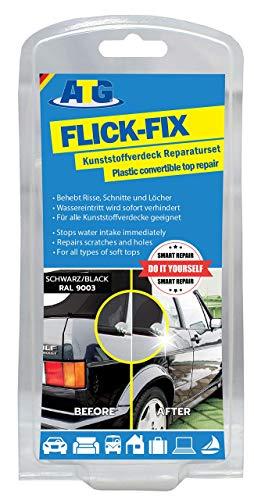ATG CFR02 Flick Fix Kunststoff-Verdeck Teichfolien Pool Reparaturset, Cabrioverdeck und Planen - Schwarz