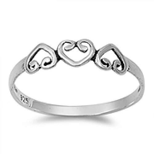 kleine Schätze - Damen-Ring / Verlobungsring - 925 Sterlingsilber -Herz