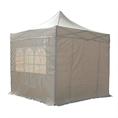 MEDEX MOBILITY All Seasons 3x3m Pop Up Gazebo for Garden Waterproof Party Tent Airwave FREE Carry Bag Rustproof Frame (Cream Beige)