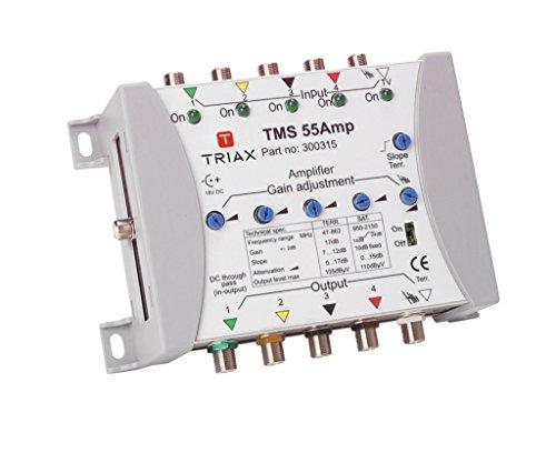 Triax TMS 55 AMP Verstärker, 5 Eingänge, 5 Ausgänge weiß