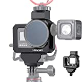 Ulanzi G8-5 Professional CNC Vlog Housing for GoPro Hero8 | Dual Cold Shoe Mounts with Audio Mic Adapter Cage