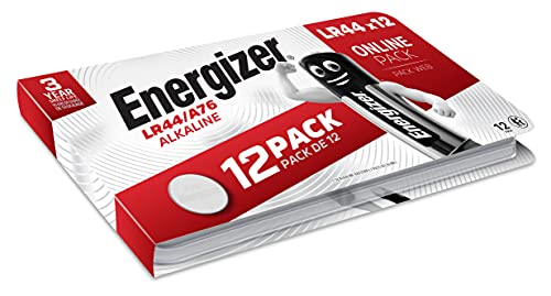 Energizer-Alkali-Knopfzelle LR44/A76, 12 Stück