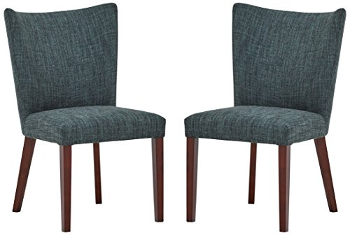 Rivet Tina Modern 2-Pack Curved Back Dining Chairs