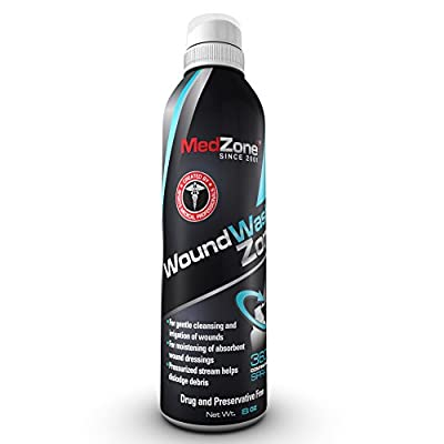 MedZone Wound Wash and Piercing Aftercare Kit - First Aid Sterile Cleanser, 8 Ounce Can by MedZone