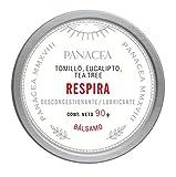 Bálsamo RESPIRA auxiliar en cuadros respiratorios con congestión y tos. 100% ingredientes naturales, sin químicos. Contiene aceites esenciales de tomillo, eucalipto y tea tree. 90g.