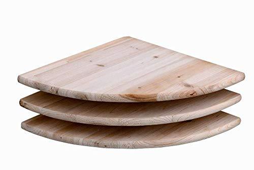 Core Products Eckregal Kit, 3Stück, geschliffen Holz