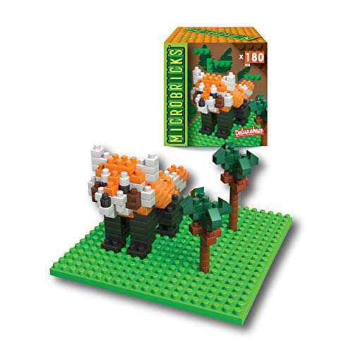 Microbricks 3D Puzzle Red Panda toy from Deluxebase.