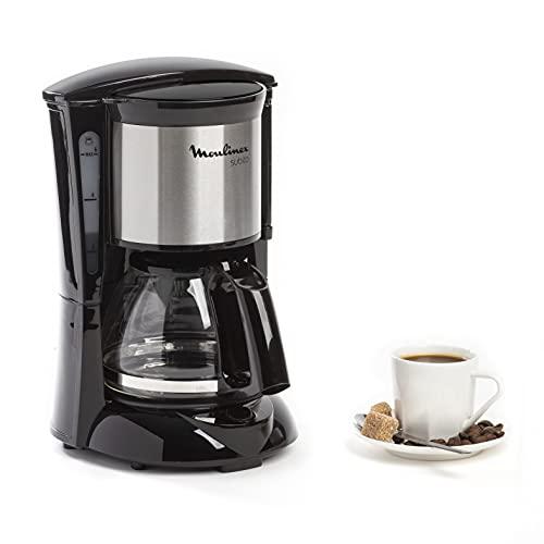 Moulinex Subito FG1508 - Cafetera de filtro 650 W de 0.6 L con función Auto-off y sistema antigoteo, color inox y negro