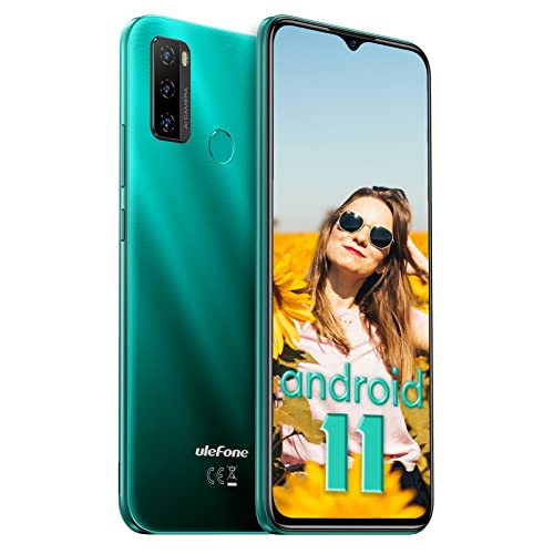Telephone Portable Debloqué Pas Cher Android 11, 5500mAh Batterie, 32Go, Octa-Core, 4G Smartphone, Ecran 6,52Pouce, 8MP AI Triple Caméra Fingerprint, Ulefone Note 10 2021 Micro+Nano Dual SIM OTG