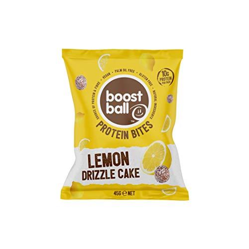 Boostballs Boostbites Protein Balls, Vegan Protein Snack, High Protein, Gluten Free, Protein Bar Alternative - Lemon Drizzle Cake Flavour, Set of 12 x 45g