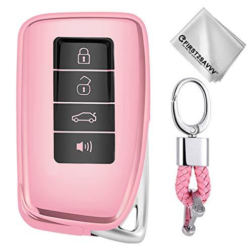 Rosado Funda para Llave Smart Key para Coche Lexus RX is ES GS LS NX RS GX LX RC LC NX300h NX200 ES3