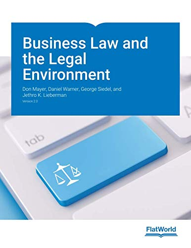 Business Law and the Legal Environment Version 2.0