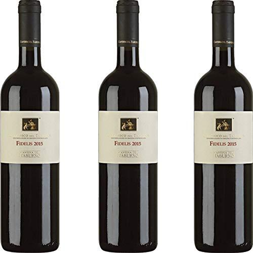 Fidelis Dop | Vino Aglianico del Taburno | Vino Rosso | Cantina del Taburno | Confezione 3 Bottiglie da 75 Cl | Idea Regalo