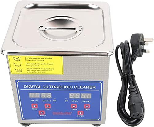 Kettles Limpiador ultrasónico 1.3L Lavadora ultrasónica Digital Máquina de Limpieza de Acero Inoxidable con Calentador Temporizador para Limpieza Joyas Anillos de anteojos