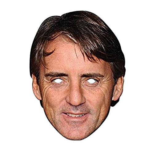 Mask-arade Roberto-Mancini-Maske (Einheitsgröße) (Bunt)