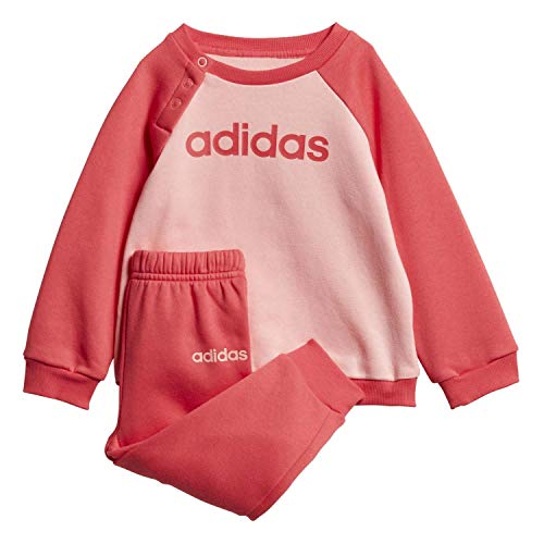 adidas Baby I LIN Jogg FL Sportoutfit, Rosglo/Rosbas, 86 (12/18 Meses)