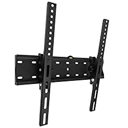Ultra Strong: Weight tested up to 250kg this TV bracket is compatible with all TVs with mounting holes from 100mm x 100mm to 400mm x 400mm (VESA Standard). Supports 26 to 55 inch screens and fits plasma, LED, LCD, OLED, QLED, flat and curved TVs. Sli...