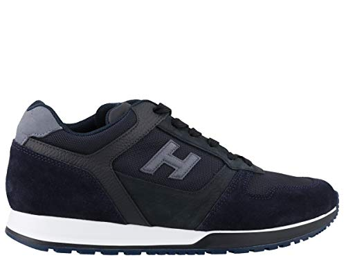 Hogan Luxury Fashion Herren HXM3210Y851N8L647F Blau Stoff Sneakers | Jahreszeit Permanent