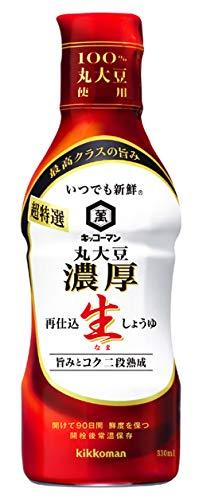 キッコーマン食品 いつでも新鮮 超特選 丸大豆濃厚生しょうゆ 330ml×3本