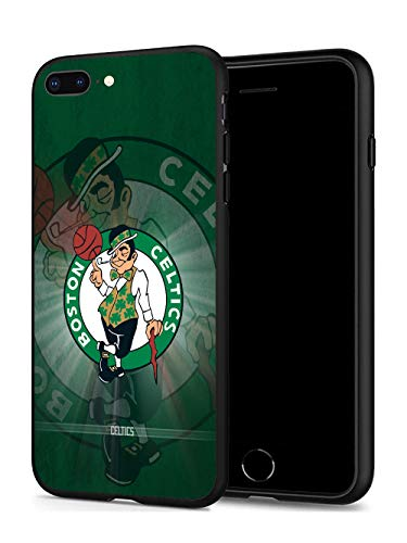 iPhone 8 Plus Case iPhone 7 Plus Case, Basketball Team & Star Fashion Hard Plastic & Silicone Rubber Bumper Protective Case for iPhone 8 Plus/iPhone 7 Plus (5.5-inch Display) (Celtics-7P/8P)