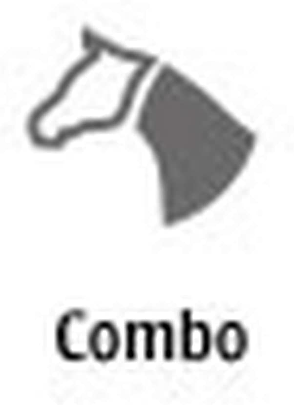 Weatherbeeta Comfitec Plus Dynamic Combo Neck Lite Sea Blue//Blue