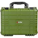 Eylar Tactical Hard Gun Case Water & Shock Proof with Foam 16 inch 13 inch 6.87 inch (Green)