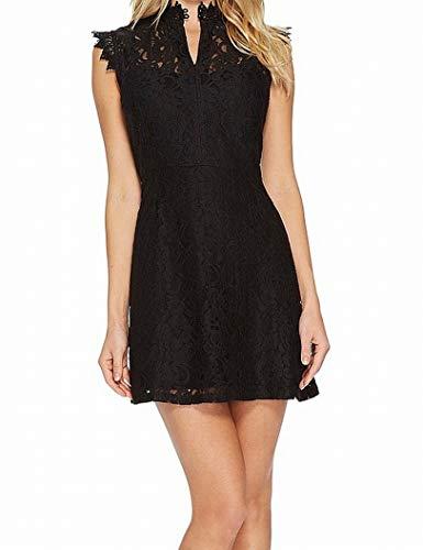 Obey Damen Rapture Lace Dress Freizeitkleidung, schwarz, Groß