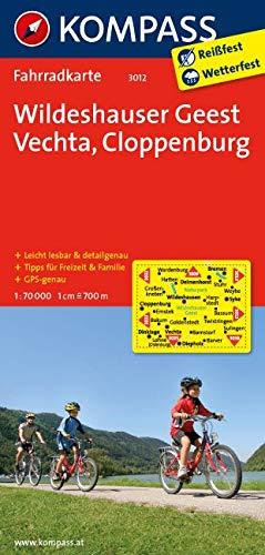 KOMPASS Fahrradkarte Wildeshauser Geest - Vechta - Cloppenburg: Fahrradkarte. GPS-genau. 1:70000 (KOMPASS-Fahrradkarten Deutschland, Band 3012)