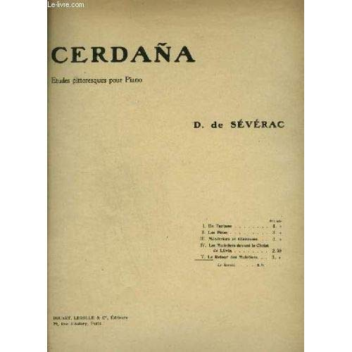 Cerdana Suite Pittoresque Piano Piano