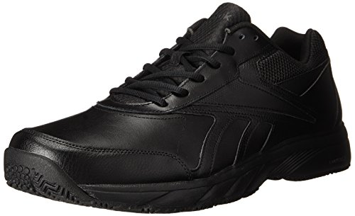 Reebok Men's Work N Cushion 2.0 Walking Shoe, Black/Black, 9.5 M US