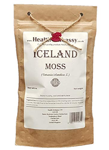 Health Embassy Isländisches Moos Tee (Cetraria islandica L) / Iceland Moss Tea, 100g