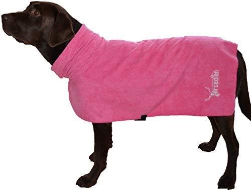 Mikrofaser Hunde Bademantel von Premium Qualität von Arcadian. Diese luxuriösen Bademäntel sind leicht, schnell trocknend und super saugfähig. Einfach zu verwenden, komfortabel und mit verstellbaren Trägern. Fantastisch, wenn zusammen mit einem Mikrofaser Hundehandtuch von Arcadian verwendet. 100% Zufriedenheitsgarantie!