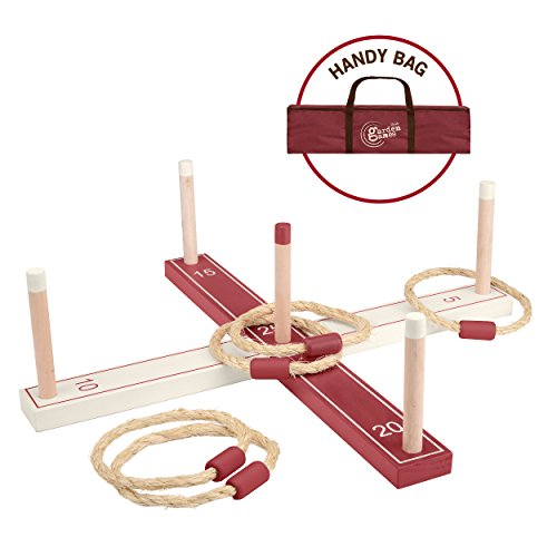 Toyrific Garden Games TY5964 Wooden Ring Toss Set