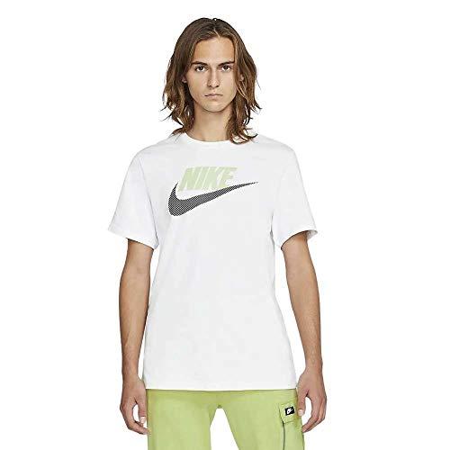 Nike Sportswear Herren-T-Shirt L Weiß, Schwarz