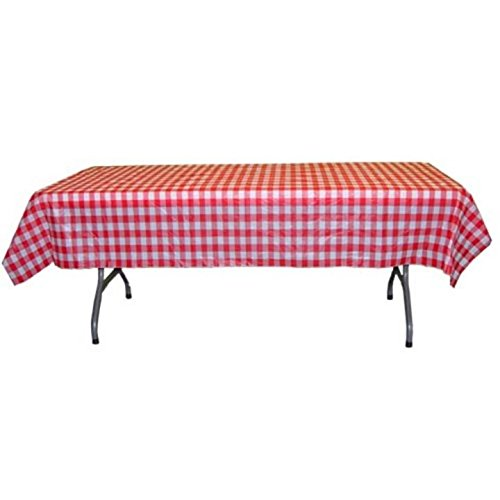 Amazon Com Exquisite 40 Inch X 100 Ft Gingham Plastic Tablecloth