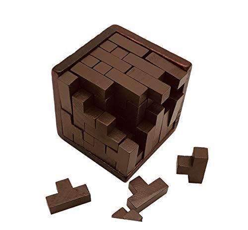 3D Kubus puzzel for kinderen kubusraadsel for volwassenen tetris cube 3d raadsel Moeilijk Brain Challenge Intellectual Games Daag je logisch denken Jigsaw