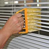 Shutters Microfiber Window Cleaning Brush, Blind Cleaning Tool, 7 Slat Handheld Blinds Brush Cleaner, Dust Collector Cleaning Cloth Tools for Window Shutters Air Conditioner, Siding, Car, Fan
