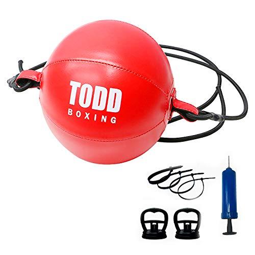 Double Head Boxen Speed Ball Boxen Training Aufblasbarer Boxsack Übung Boxball Ball Leder Dehnbar Leicht zu hängende Geschwindigkeit Sport Kampf Geschwindigkeit Reaktion Beweglichkeitstraining