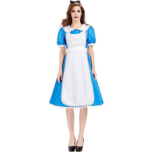 wtnhz Regalo di novità Cosplay Halloween Natale in Costume da fiaba Alice Wonderland Costume da Spettacolo